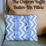 button up ruffle pillow