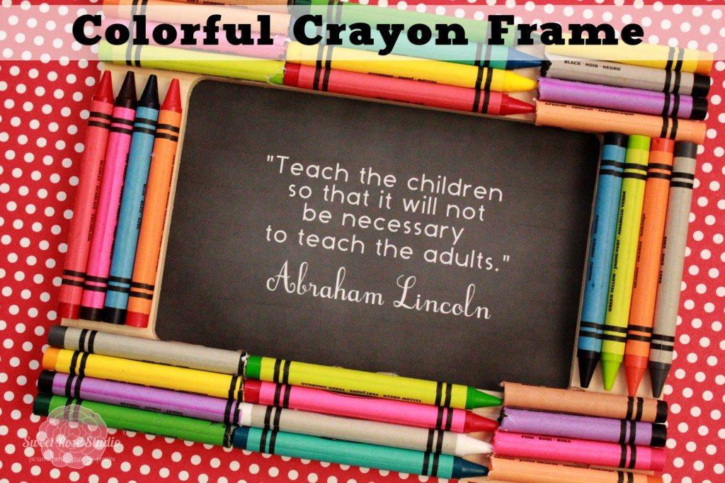 Colorful Crayon Frame Bombshell Bling