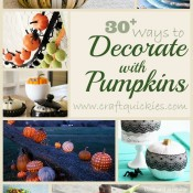 30+ Ways to Decorate with Pumpkins from Craft Quickies
