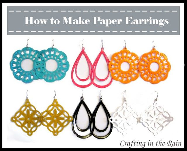 make paper earrings