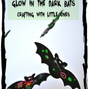 Glow in the Dark Bats Crafting with Kids