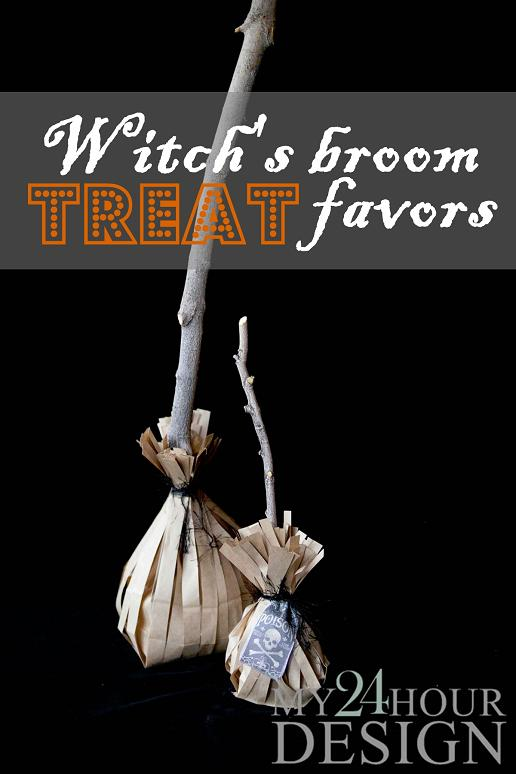 Witch's Broom Treat Favors Tutorial