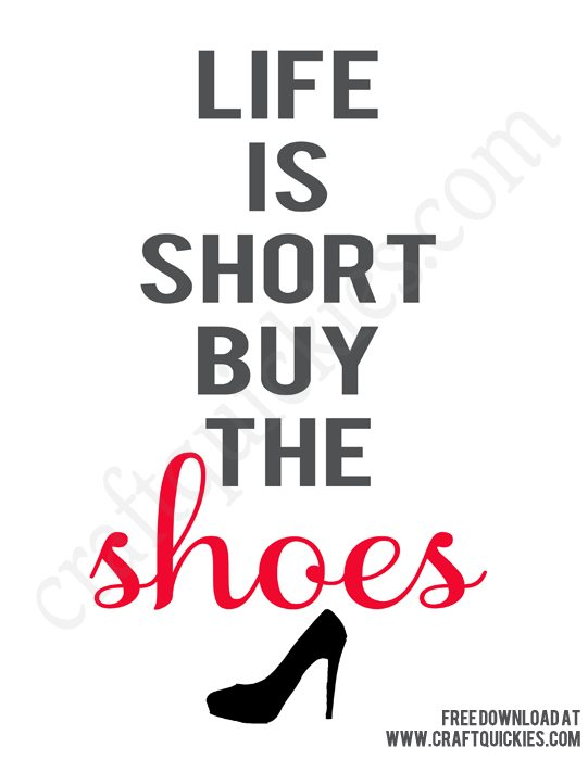 Buy The Shoes Printable