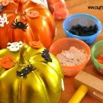 Pin & Pound Pumpkins is a fun fine motor activity for the Halloween season!