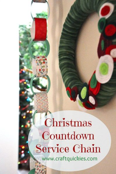 The Christmas service chain countdown is a great family tradition to teach kids the true spirit of the holiday season!