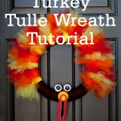 Thom the Tulle Turkey Wreath Tutorial