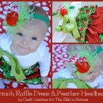 grinch-ruffle-dress-and-feather-headband