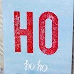 sparkly ho ho ho sign