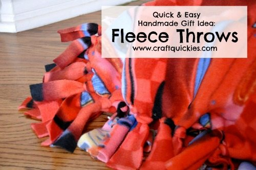 Fleece Throw Tutorial from Craft Quickies