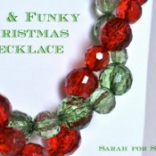 Fun & Funky Christmas Necklace Tutorial by Sarah for Sweet Cs Designs