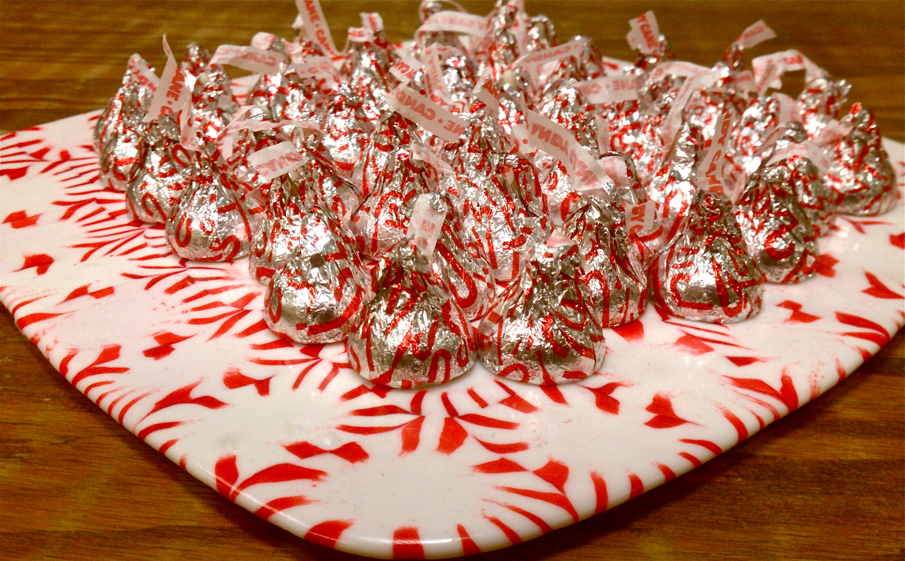 Peppermint serving trays