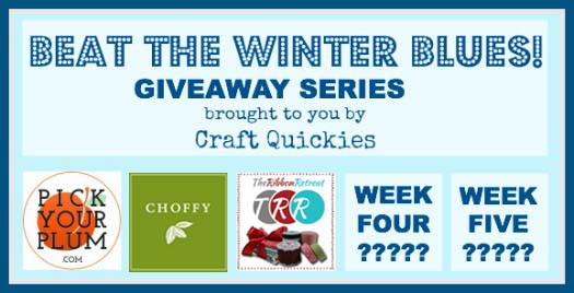 Beat the Winter Blues Giveaway Series on Craft Quickies 3