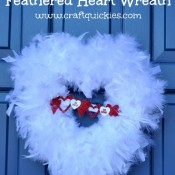 Feathered Heart Wreath Tutorial from Craft Quickies