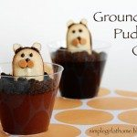 Groundhog Pudding Cups