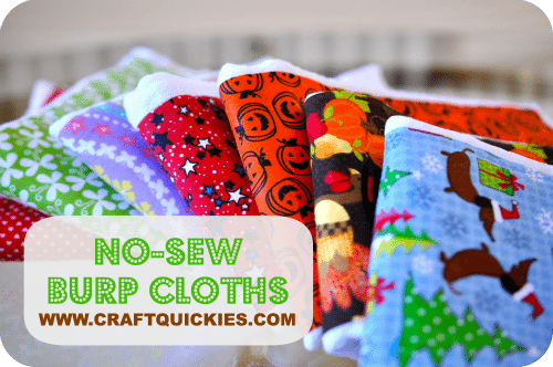 No-Sew Burp Cloths from Craft Quickies