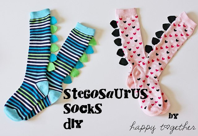 Stegosaurus Socks DIY