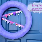 Flirty Pennant Banner Wreath from Sarah for Sweet C's Designs