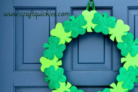Lucky Clover Wreath from Craft Quickies 2 copy