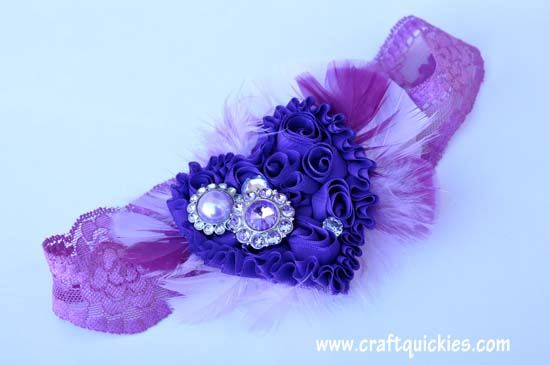 Shabby Heart Headband Tutorial 9