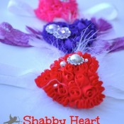 Shabby Heart Headband Tutorial from Craft Quickies