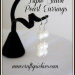 Triple Stack Pearl Earrings from Craft Quickies