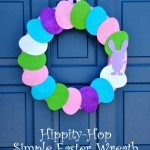 Hippity Hop Simple Easter Wreath Tutorial from Craft Quickies