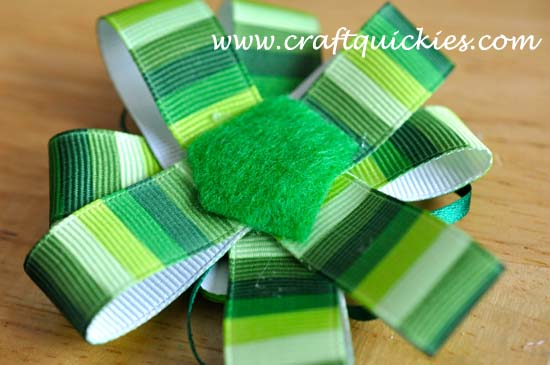 Lucky Charm Hair Bow from Craft Quickies 7