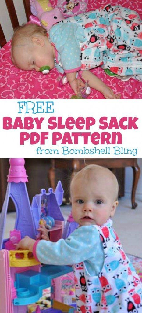 FREE Baby Sleep Sack PDF Pattern from Bombshell Bling