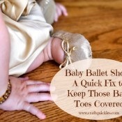 Brilliant and simple quick-fix for baby ballet shoes that won't stop falling off from Craft Quickies!
