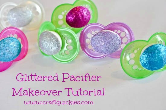 Glittered Pacifier Makeover Tutorial