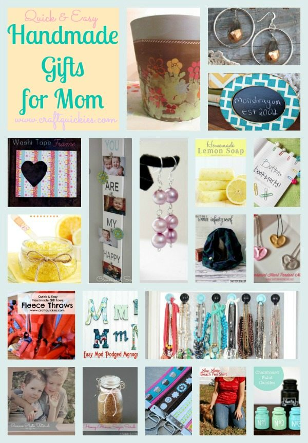 19 Quick & Easy Handmade Gift Ideas for Mom from Craft Quickies