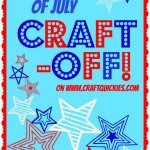 Win an amazing prize package by linking up a patriotic project or recipe to this Fourth of July Craft-Off on Craft Quickies!