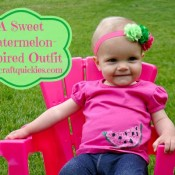 This watermelon-inspired outfit can be made in 15 minutes total! So cute!!