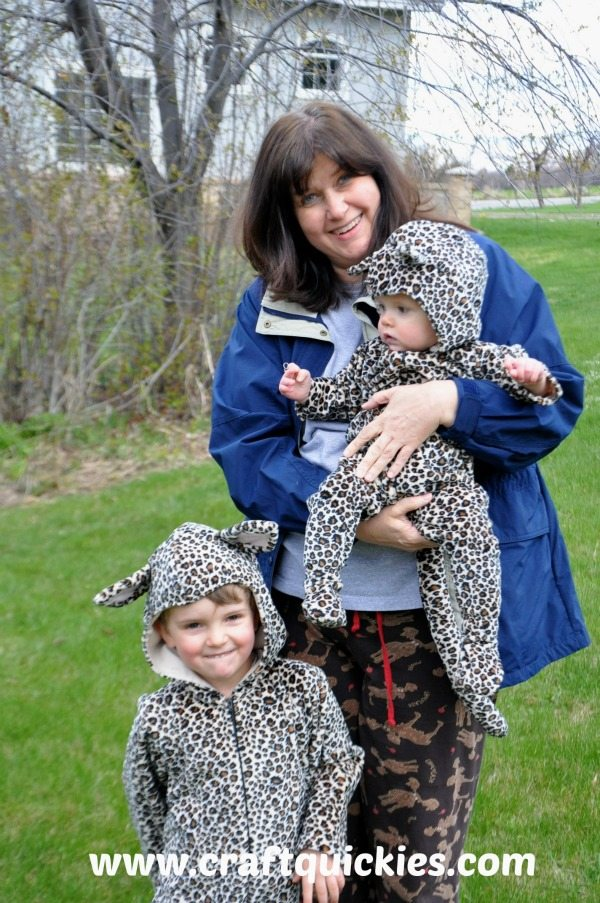 These costumes made with Cuddle fabric are PERFECT for play or for chilly trick-or-treating!