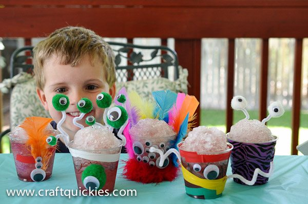 """These monster cups are so fun to make with kids, and they are perfect for healthy """"monster snow cones"""" too!"""