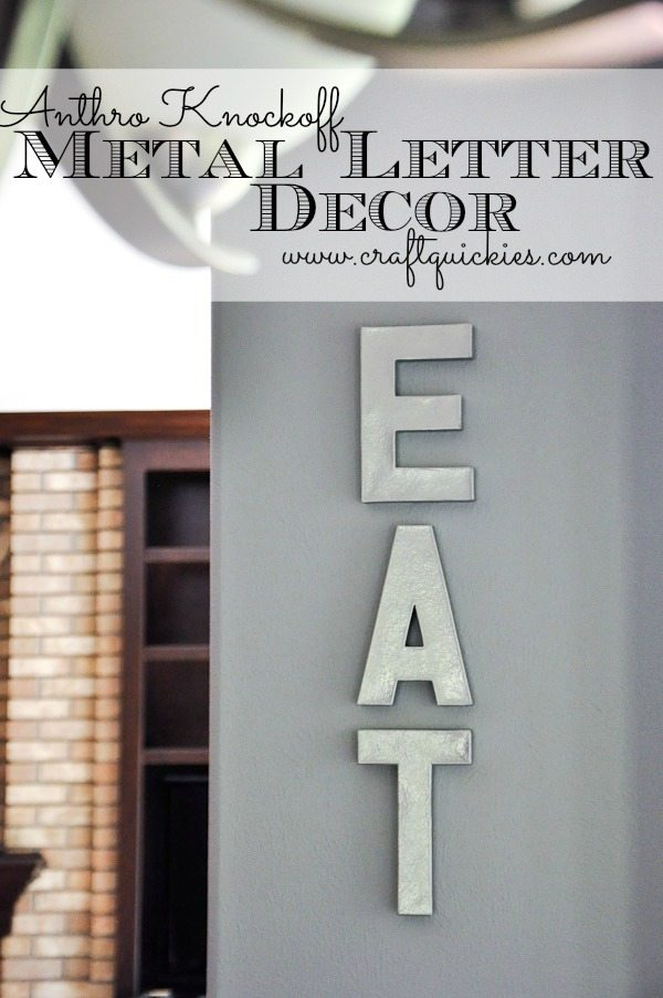 anthro knockoff metal letter decor - Letter Decor