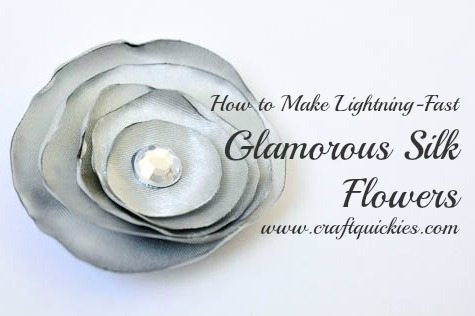 Silver Silk Flowers from Craft Quickies-12