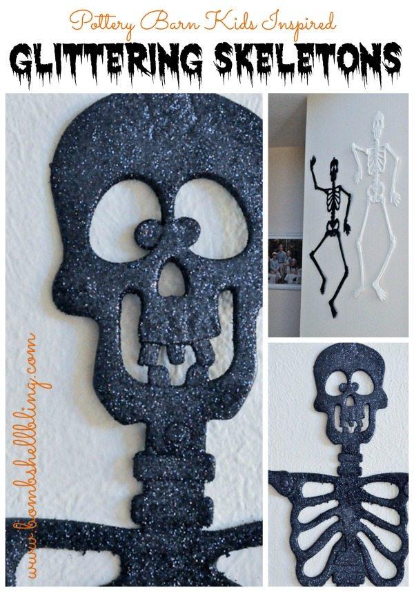 Pottery Barn Kids Inspired Glittering Skeletons