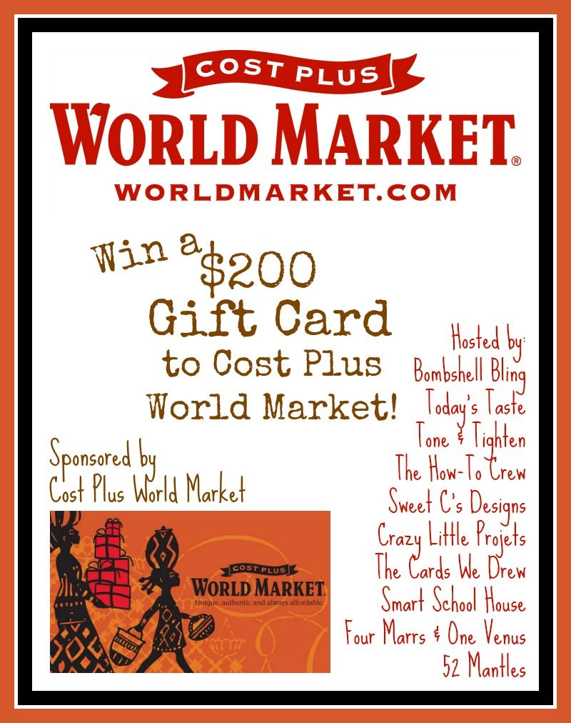 Win $200 to Cost Plus World Market and check out fab fall finds!! I love this store!