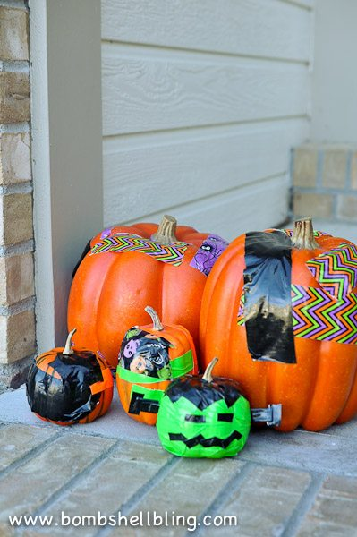 Duck Tape Pumpkins-16