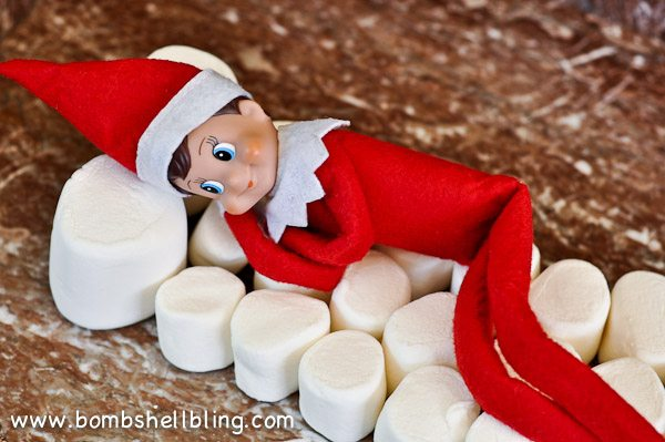 Kids can't touch the elf on the shelf cause it will lose all it's magic but parents can touch it so the parents will take it out of the box.