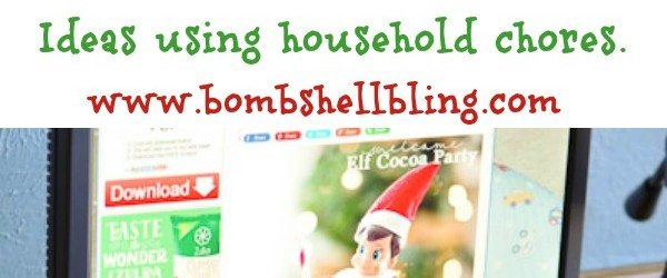Elf on the shelf with household chores
