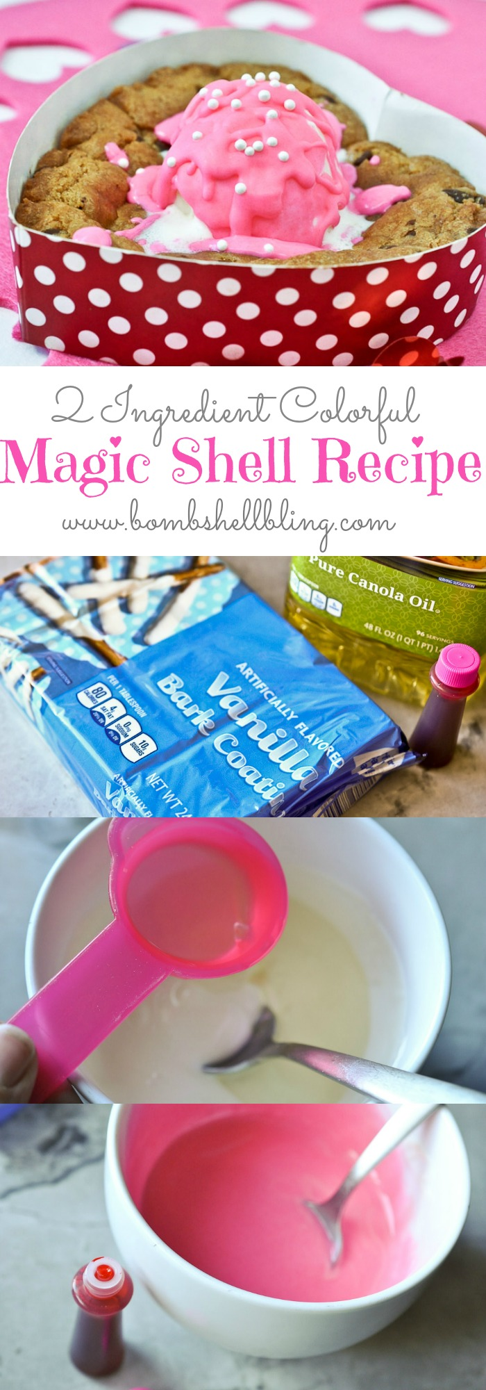 2 Ingredient Colorful Magic Shell Recipe
