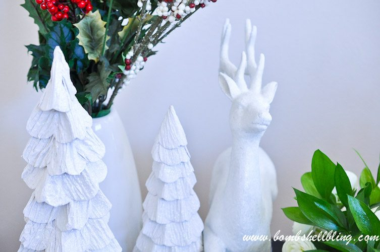Trees From World Market Glittering Reindeer Target White Decorative Vase