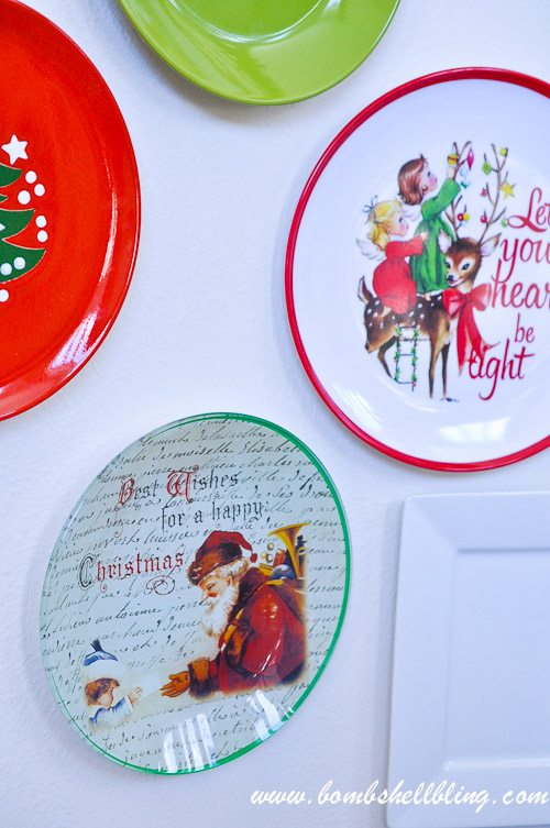 Decorative Christmas Plates For The Wall Gorgeous Christmas Plate Wall Design Decoration