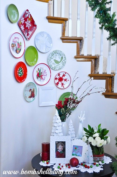 Decorative Christmas Plates For The Wall Fascinating Christmas Plate Wall Decorating Design