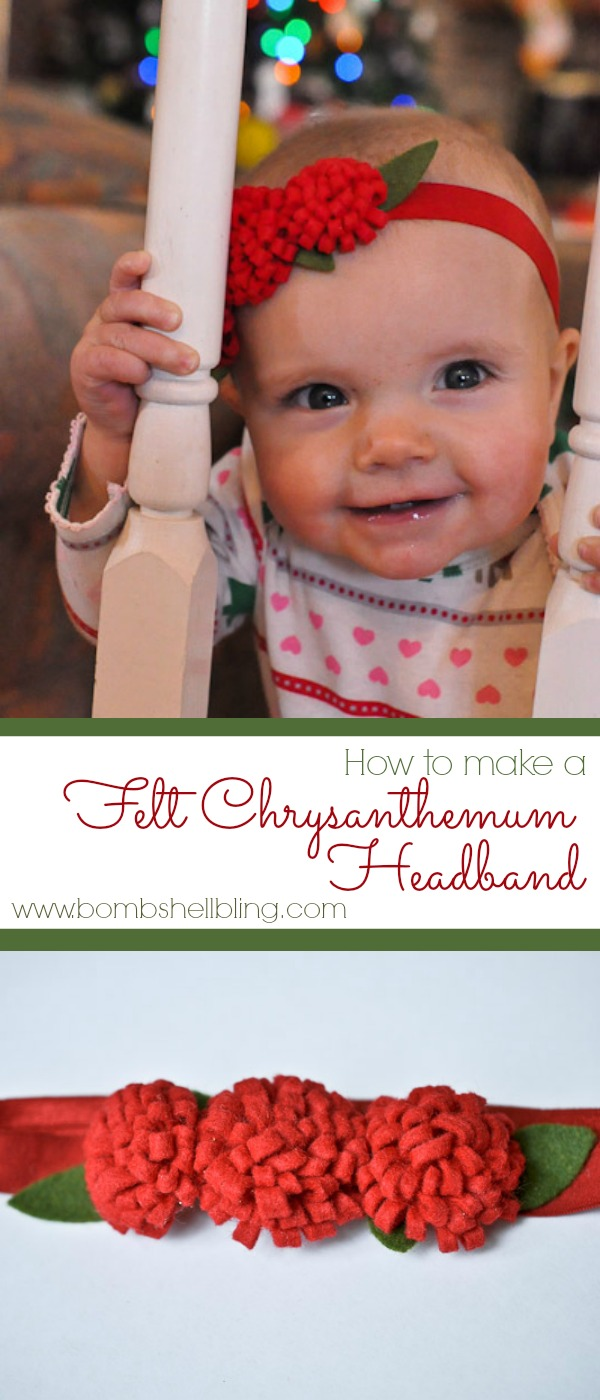 Felt Chrysanthemum Headband Tutorial