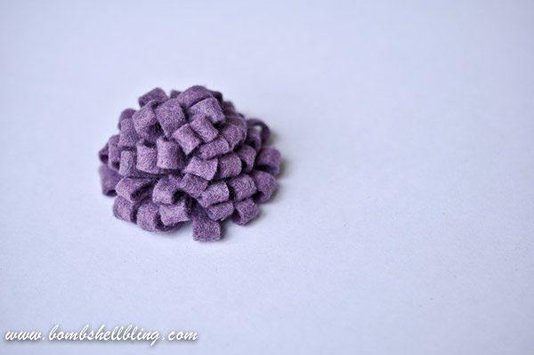 How to Make a Felt Chrysanthemum-18