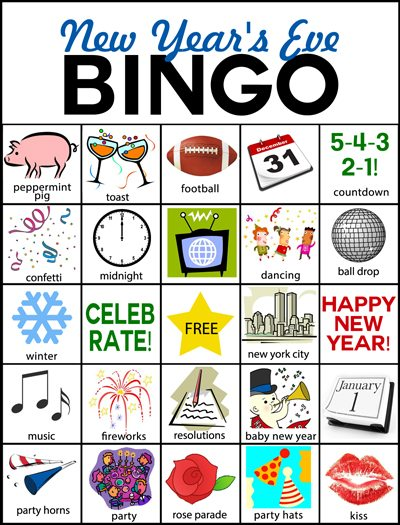 have a ball playing nye bingo with this free printable from plucky momo 40 new years