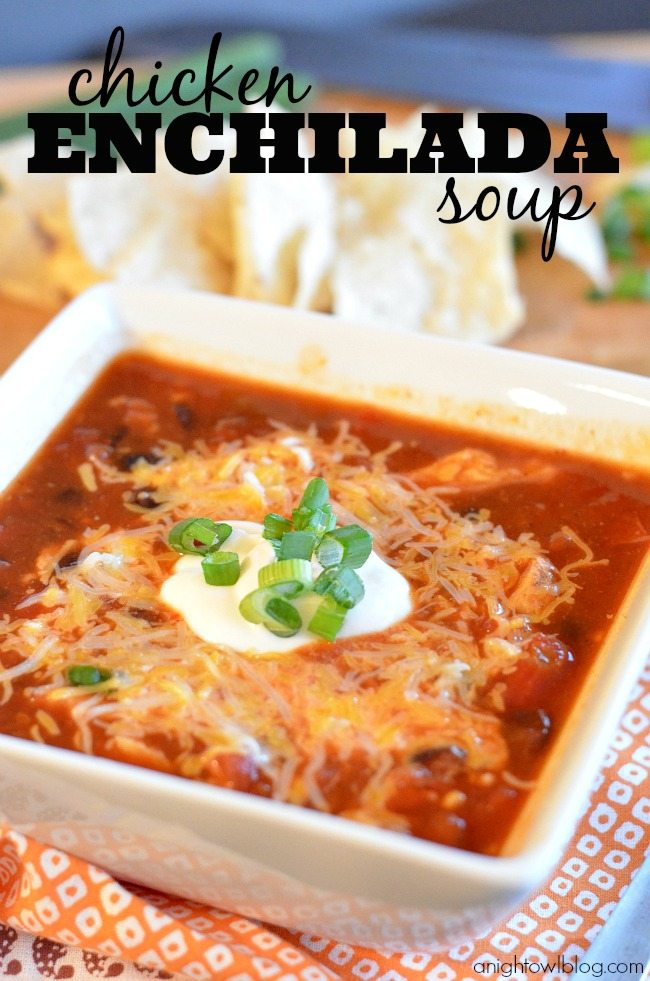 Baja Chicken Enchilada Soup Chicken Enchilada Soup From a